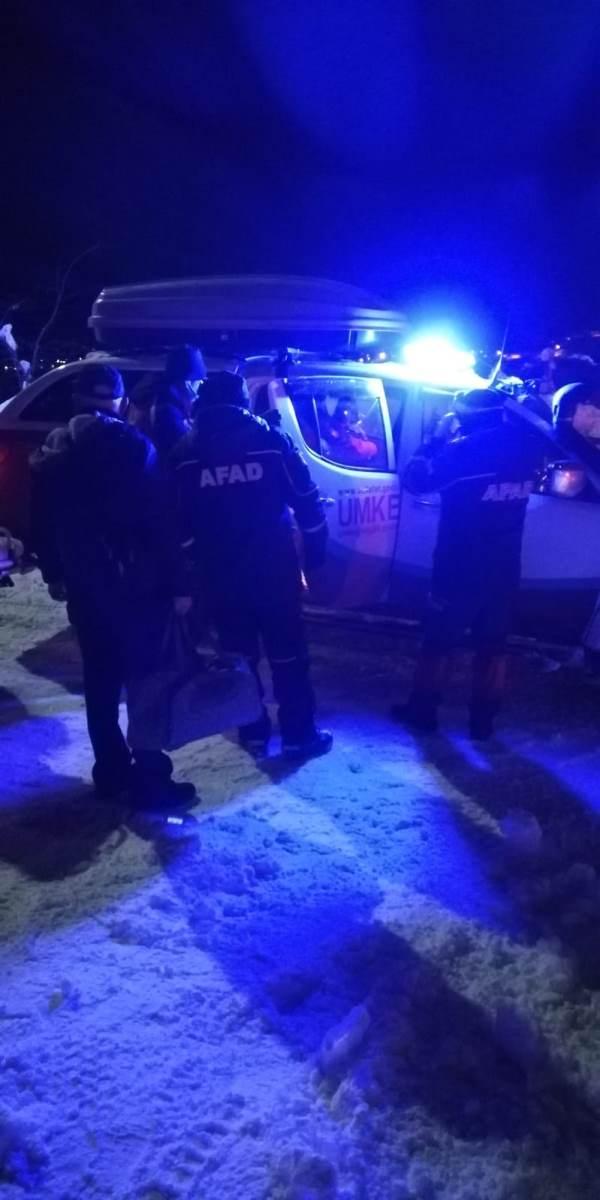 Trabzon'da kardan mahsur kalan hasta için ekipler seferber oldu