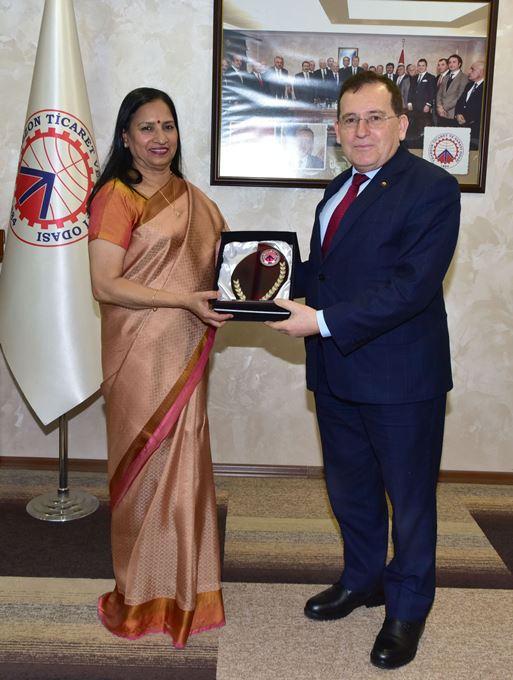 TTSO'da Türkiye Hindistan ticareti konuşuldu - Sürpriz ziyaret