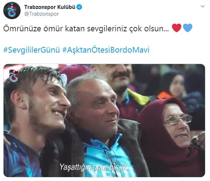 Trabzonspor'dan videolu sevgililer günü paylaşımı