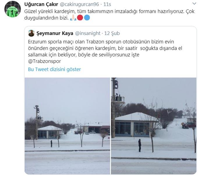 Soğuk Havada 1 saat bekledi - Trabzonspor kayıtsız kalmadı