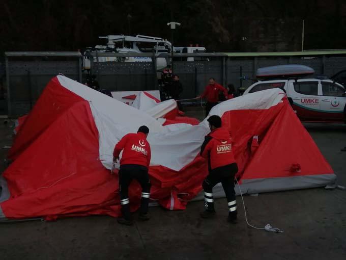 Sarp Sınır Kapısı'nda koronavirüs önlemi - 100 yataklı sahra çadırı kuruldu
