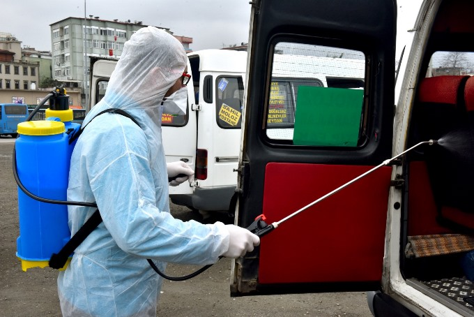 Trabzon'da Koronavirüs mücadelesi sürüyor