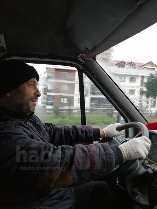Trabzon'da şoförlerden koronavirüs önlemi