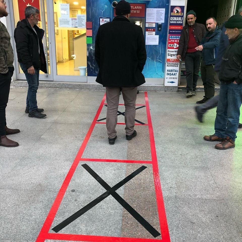 Rize'de bankamatiği kullananlar için Koranavirüs tedbiri
