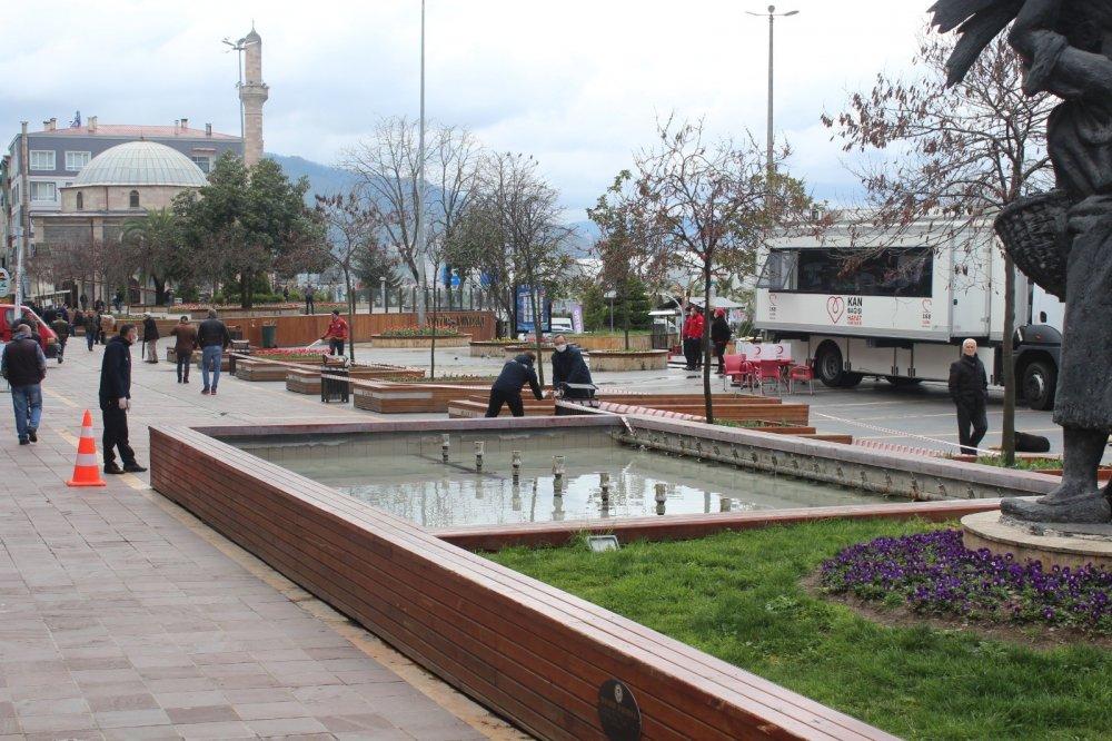 Giresun'da meydan vatandaşlara kapatıldı