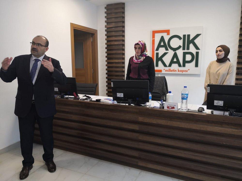 Vali Ustaoğlu'nun ziyaretinde güzel tesadüf