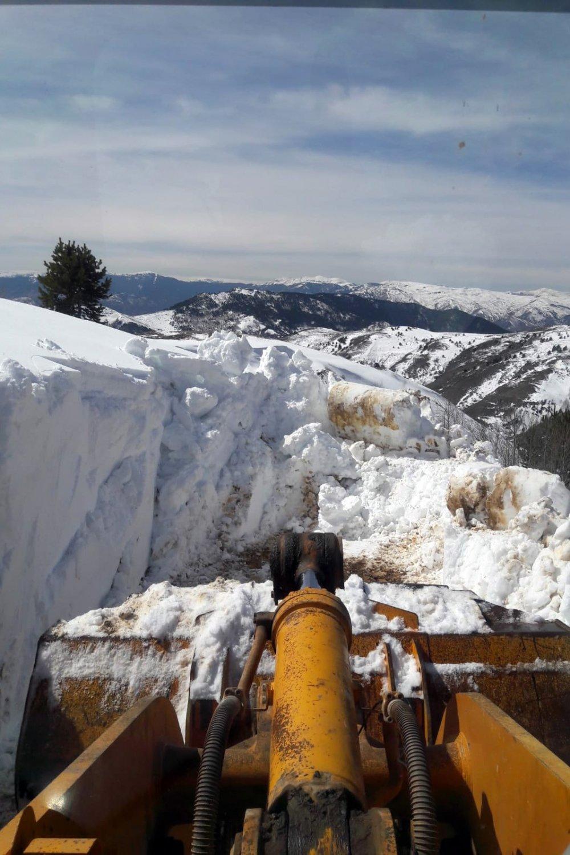 Gümüşhane'de karla mücadele