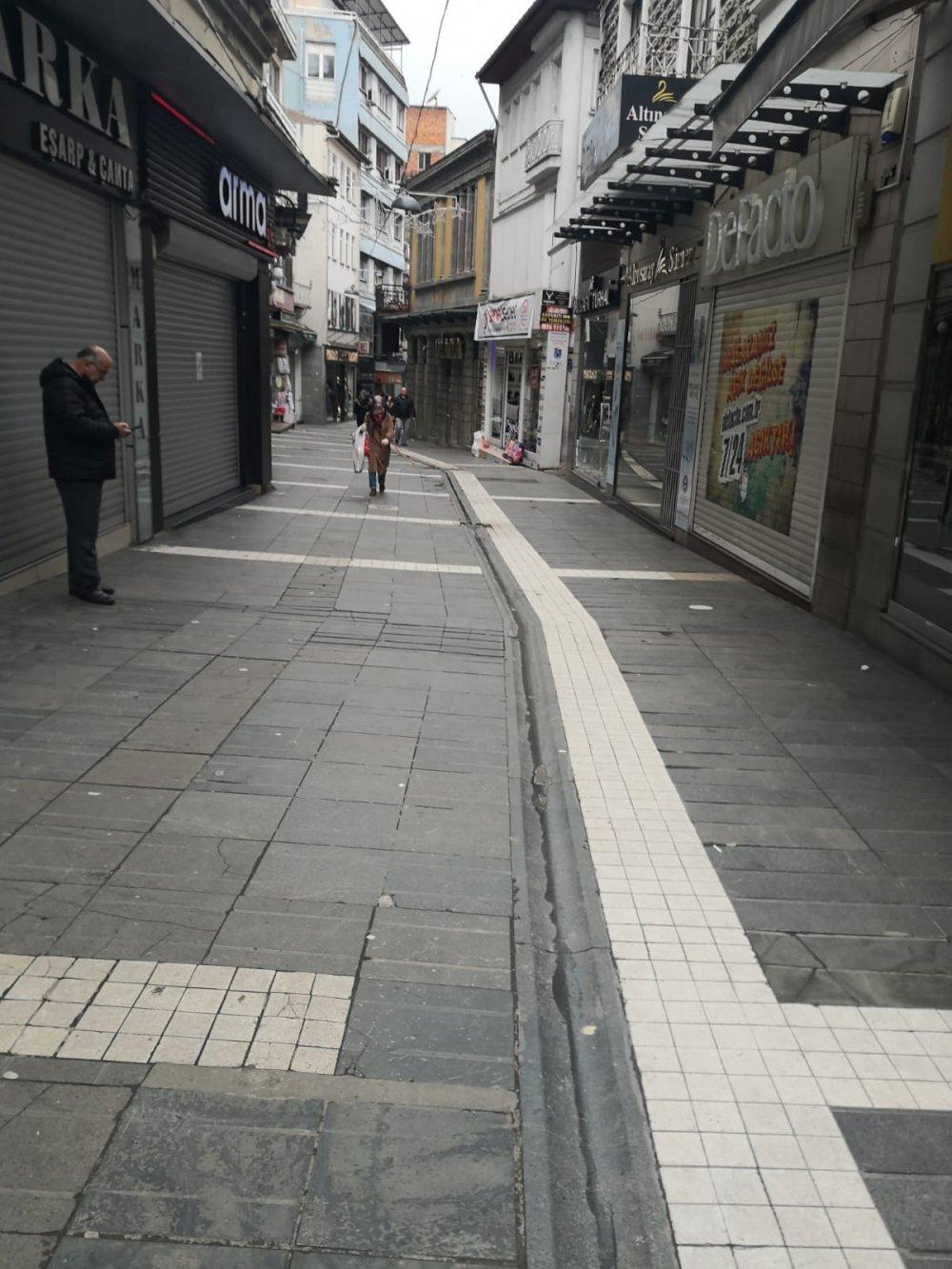 Trabzon'da koronavirüs sokakları boşalttı