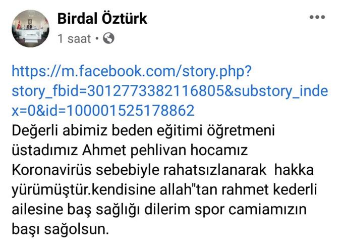 Trabzon'da emekli öğretmen koronavirüsten hayatın kaybetti
