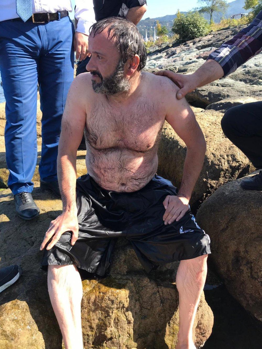 Trabzon'da intihar! Vücuduna ağırlık bağlayarak...