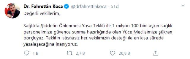 """Sağlık Bakanı Koca'dan vekillere çağrı! """"Kısa sürede..."""""""