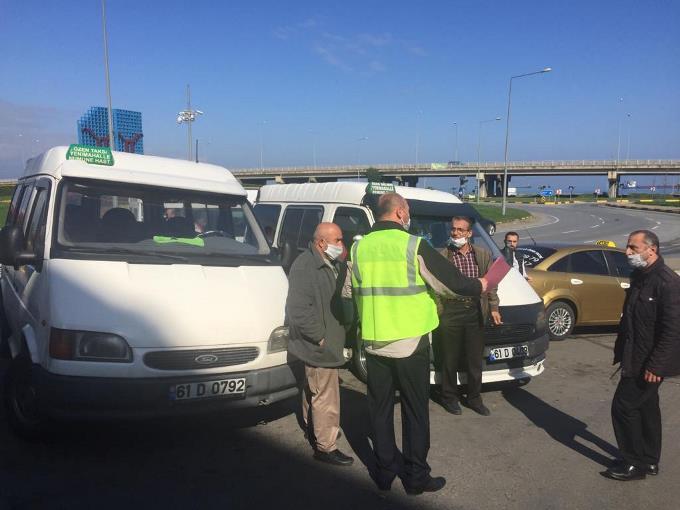 Trabzon'da ulaşımda denetimler sürüyor