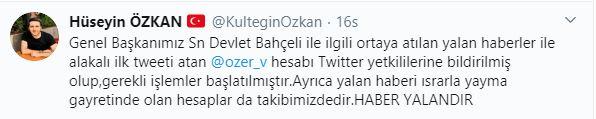"""""""DEVLET BAHÇELİ ÖLDÜ"""" İDDİALARINA SUÇ DUYURUSU"""