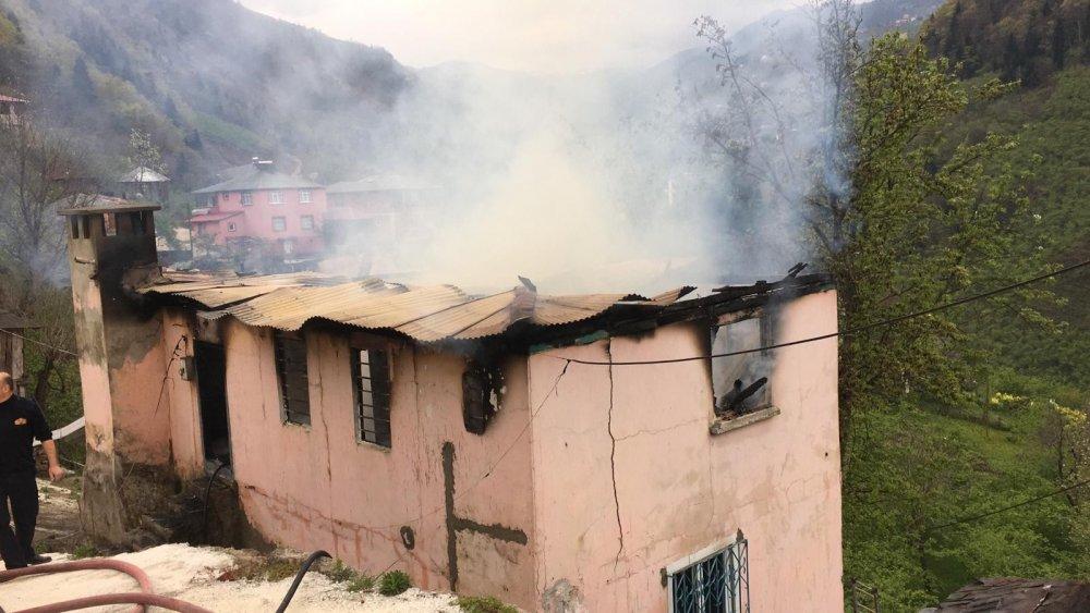 Trabzon'da acı olay! 80 yaşında yangında öldü!