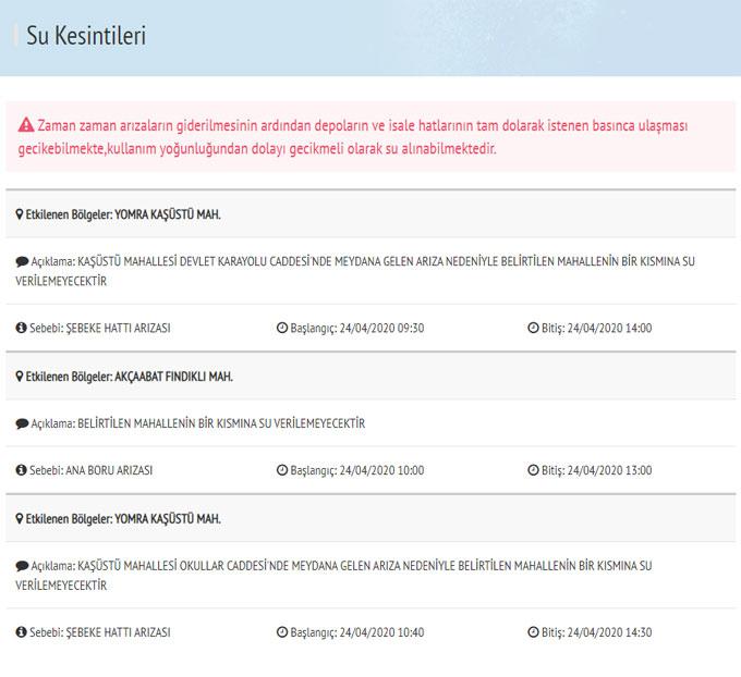 Trabzon'da su kesintisi! Bir mahallede 2 yerde