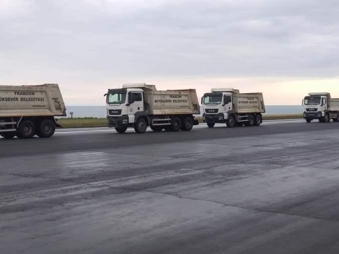 Trabzon Havalimanı pistinin asfaltı yeniden kullanılacak