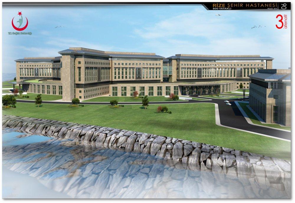 Rize'de şehir hastanesi, deniz dolgusuna inşa edilecek