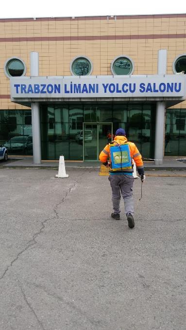 Trabzon'da dezenfeksiyon çalışmaları hız kesmiyor