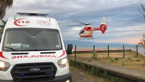 Trabzon'da helikopter ambulans 10 hasta için havalandı