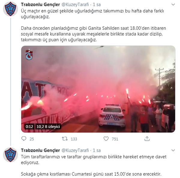 Trabzonspor taraftarlarından özel hazırlık