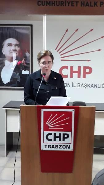 CHP Trabzon İl Başkanlığından Canan Kaftancıoğlu'na destek açıklaması.