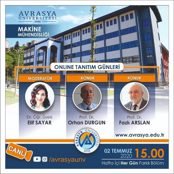 Avrasya Üniversitesi online tanıtım günleri başladı