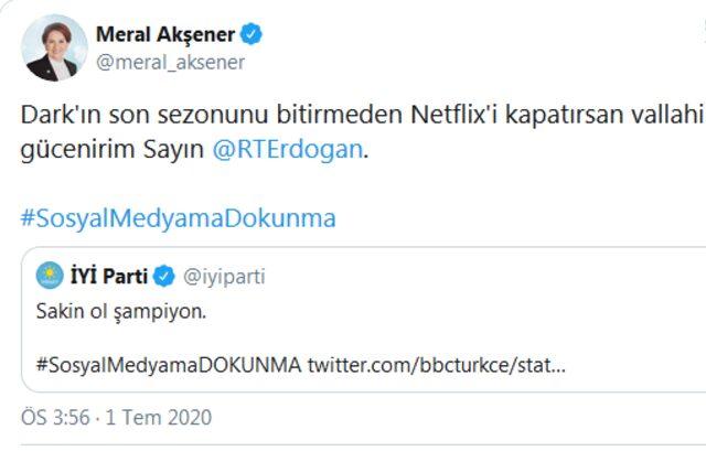 Siyasilerden Netflix muhabbeti!