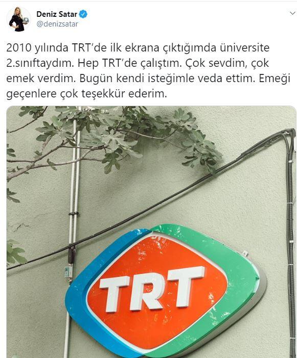 Deniz Satar TRT'den ayrıldı! Deniz Satar kimdir?