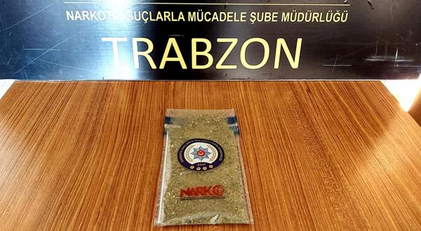 İstanbul'dan Trabzon'a gelirken yakalandı