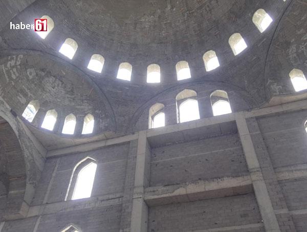 Trabzon yeni camiinin içinden ilk görüntüler