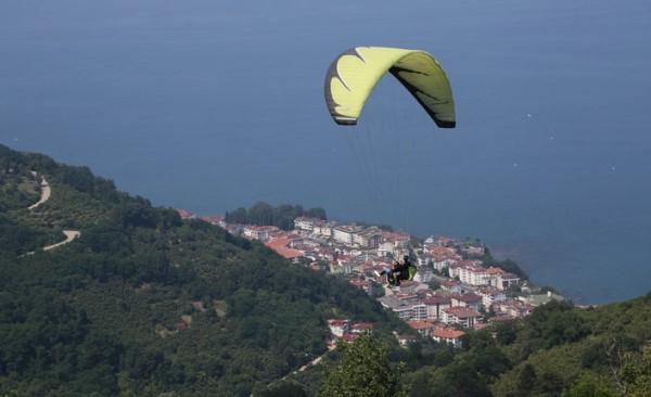 Ordu'da yamaç paraşütü uçuşları tekrar başladı