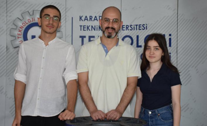 Trabzon'da liseli gençlerden önemli buluş