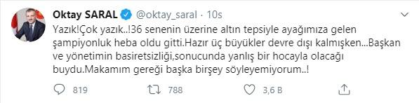 Cumhurbaşkanı Başdanışmanı Oktay Saral'dan Trabzonspor yönetimine tepki!