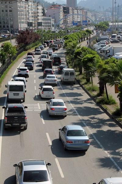 Giresun'da araç sayısı 100 Bin sınırına dayandı