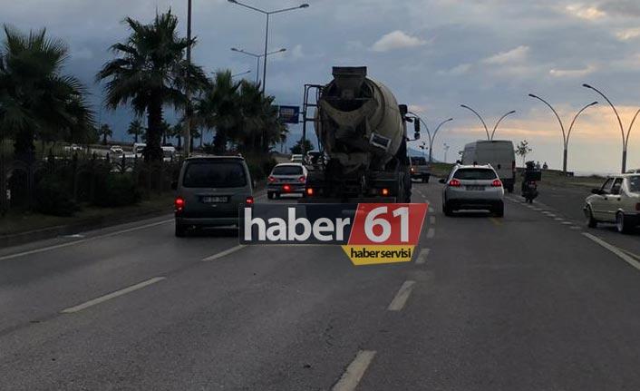 Trabzon'da otomobil ile mikser çarpıştı
