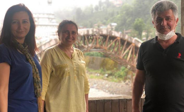 Rize'deki tarihi köprüde restorasyon bitiyor