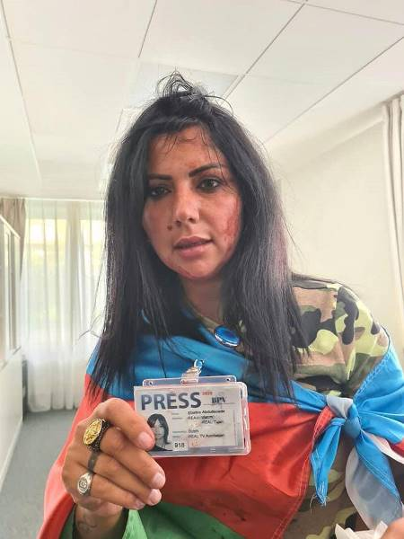 Azerbaycanlı kadın gazeteciye Avrupa'nın göbeğinde linç girişimi