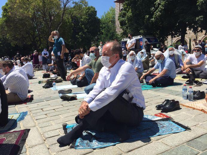 Ayasofya Cami açıldı