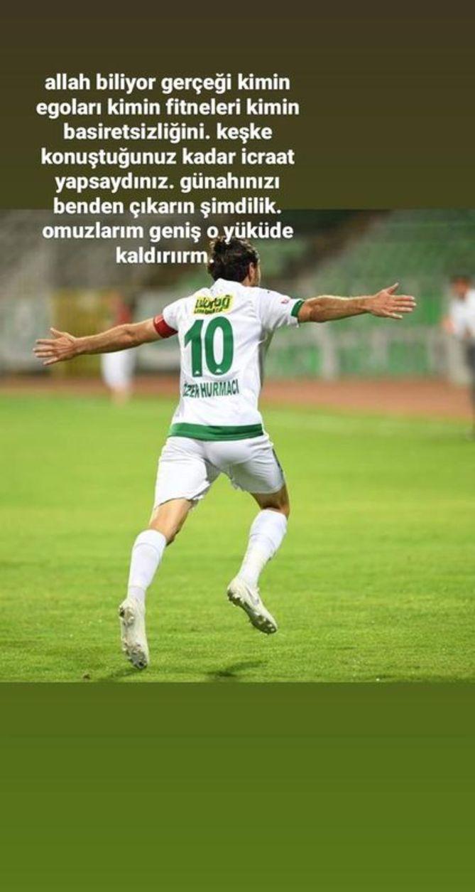 Bursasporlu futbolcular Özer Hurmacı'yı ihanetle suçladı