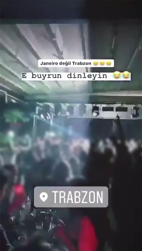 Trabzon'da koronavirüse aldırmadılar, kafede parti düzenlediler