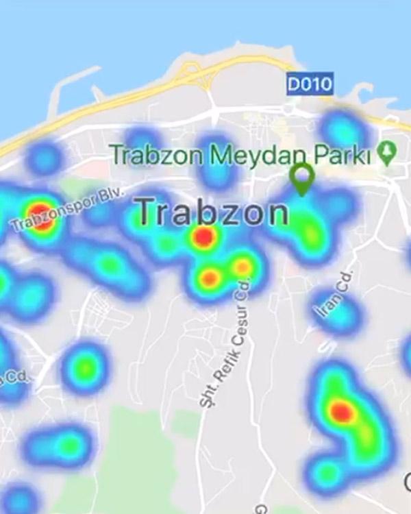İşte Trabzon'un koronavirüs yoğunluğu