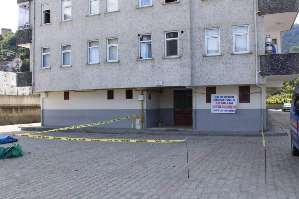 Trabzon'da 2 apartman karantinaya alındı