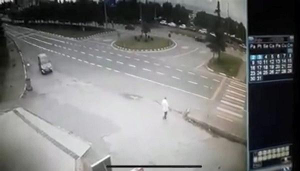 Trabzon'da işadamı hayatını kaybetti! Kaza anı kamerada