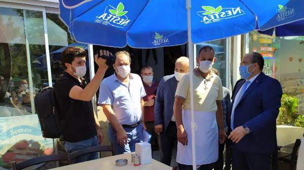 Trabzon'da koronavirüs denetimi! Protokol sahaya indi
