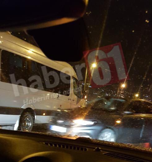 Trabzon'da zincirleme kaza!