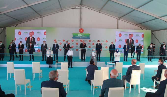 Cumhurbaşkanı Erdoğan Rize'de toplu açılış törenini gerçekleştirdi