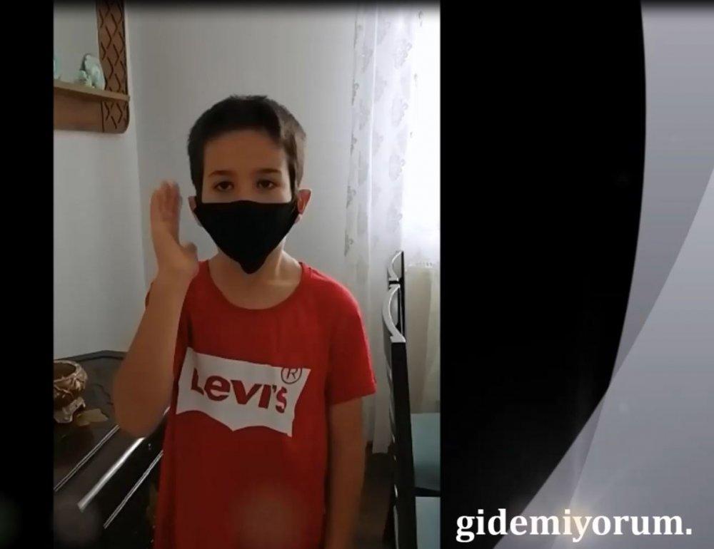 Trabzon'da okul özlemi çeken çocuklardan 'maske' klibi