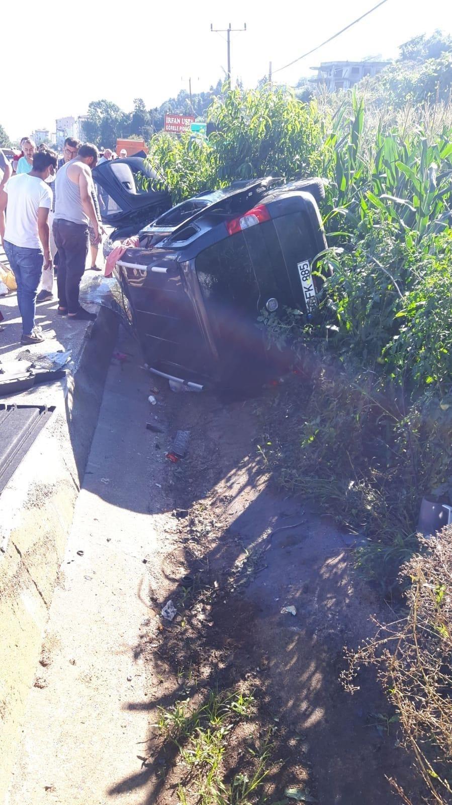 Giresun'da kaza: 1 Polis öldü 4 kişi yaralandı