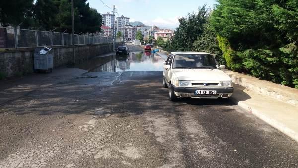 Trabzon'da bu yola çözüm bulunamıyor