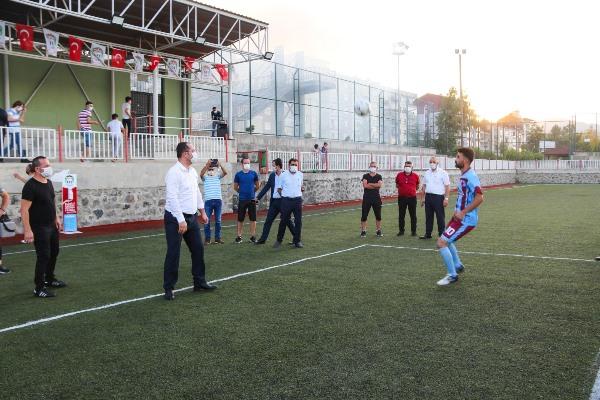 Akçaabat'ta açık havada turnuva başladı